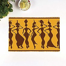Table Mats,Afro Decor,Silhouette of Sexy Female
