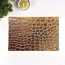 Table Mats,Animal Print Decor,Tint Golden