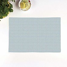 Table Mats,Blue and White,Doodle Foliage Pattern