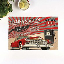 Table Mats,Cars,Poster Style Image Gasoline