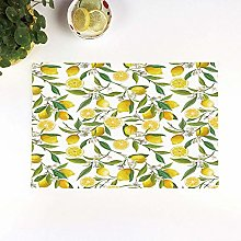 Table Mats,Nature,Exotic Lemon Tree Branches Yummy