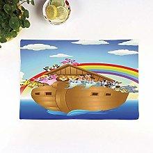 Table Mats,Noahs Ark,Cute Animals in Noahs Ark