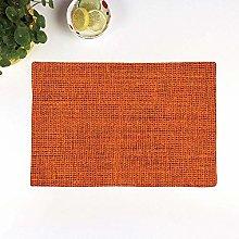 Table Mats,Orange,Faded Burlap Texture Image