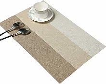 Table Mats(Set of 6),Addfun®Premium Washable PVC