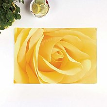Table Mats,Yellow Flower,Soft Yellow Rose Close