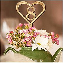 Table Number Card Wooden Wedding Table Card Flower