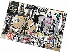Table Placemats Set of 6 Banksy Collage