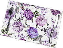 Table Placemats Set of 6 Elegant Girly Violet