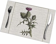 Table Placemats Set of 6 Outlander - Thistle