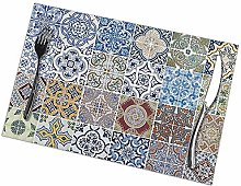 Table Placemats Set of 6 Set of 48 Ceramic Tiles