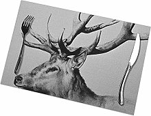 Table Placemats Set of 6 Stag Rectangular Table