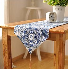 Table Runner Classical Printed Blue And White
