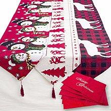Table Runner Cotton Linen Christmas Table Runner
