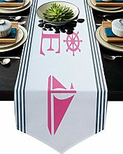Table Runner Dinner Tablecloth Decoration Nautical