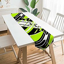 Table Runner Dresser Scarves,Lime Green, Black,