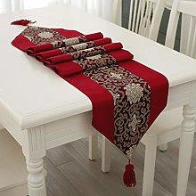 Table Runner - Red Christmas (Xmas) Tasselled