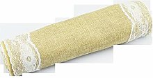 Table Runner Rustic Natural Imitation Linen Lace