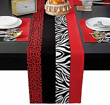 Table Runner Sets with 6 Placemats Leopard Print
