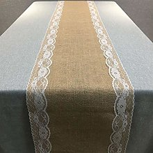Table Runner Vintage Linen Table Runner Natural
