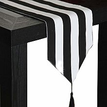 Table Runner,Vintage Table Cloth Black And White