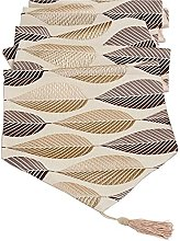 Table Runners Cotton Linen Leaf Jacquard Pattern