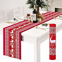 Table Runners, Red Linen Christmas Table Runners