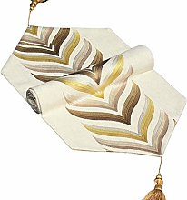 Table Runners, Stylish Classic Linen Embroidery