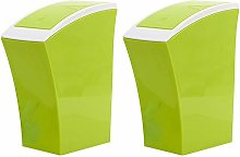 Table Top Bin for Home, Set of 2, Green Recycling