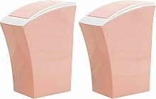 Table Top Bin for Home, Set of 2, Pink Recycling