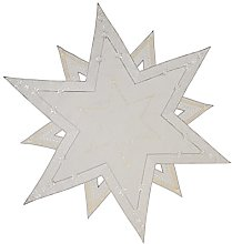 Table Topper Christmas Doily Star Approx. 85 cm