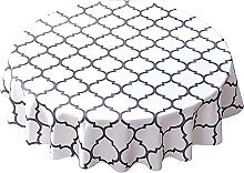 Tablecloth Antislip Round Blue Black Grey, Extra