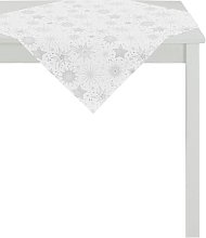 Tablecloth Apelt Colour: White/Silver