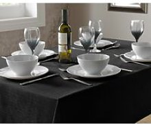 Tablecloth Black Linen Dining Table Cover Oblong