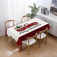 Tablecloth Christmas Merry Christmas Elderly Plaid