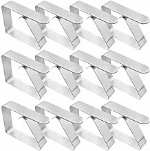 Tablecloth Clips,12 Pack Stainless Steel Table