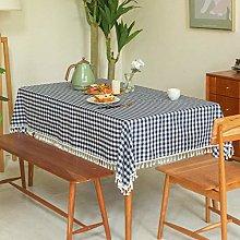 Tablecloth, Cotton Linen Rectangular Table Cover,