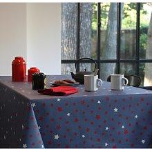 Tablecloth Fleur De Soleil Colour: Denim red,