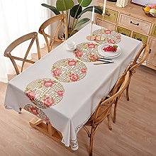 Tablecloth, Home Wipeable PVC Table Cloth Wipe