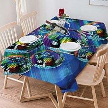 Tablecloth Rectangle Cotton Linen,70s Party