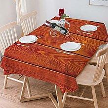 Tablecloth Rectangle Cotton Linen,Burnt