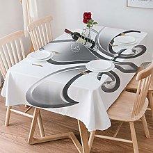 Tablecloth Rectangle Cotton Linen,Fleur De Lis