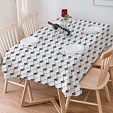 Tablecloth Rectangle Cotton Linen,Fleur De