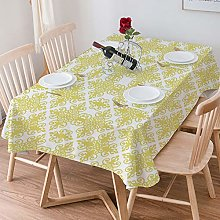 Tablecloth Rectangle Cotton Linen,Green and