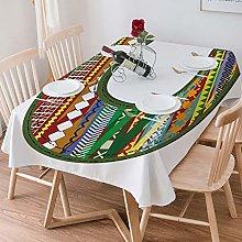 Tablecloth Rectangle Cotton Linen,Letter