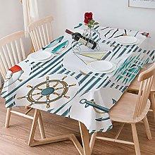 Tablecloth Rectangle Cotton Linen,Nautical
