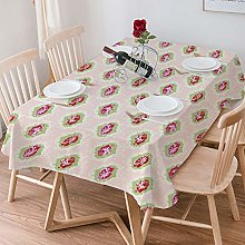 Tablecloth Rectangle Cotton Linen,Shabby Chic