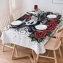 Tablecloth Rectangle Cotton Linen,Skull,Dead