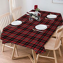 Tablecloth Rectangle Cotton Linen,Tartan,Plaid
