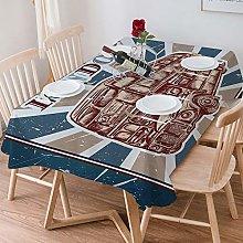 Tablecloth Rectangle Cotton Linen,Vintage,Label