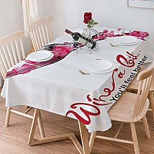 Tablecloth Rectangle Cotton Linen,Wine,Wine a